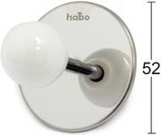 Habo Koukku Pearl Valkoinen
