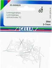 Gelia Johtokiinnike 5-7Mm 20Kpl Valkoinen