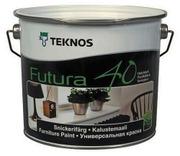 Teknos Futura 40 Kalustemaali 2,7L Pm3 Sävytettävä Puolikiiltävä