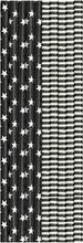 Duni 25Kpl 20Cm Musta-Valkoinen Paperipillilajitelma