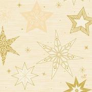 Duni 20kpl 33cm 3-krs Star Stories vanilja lautasliina
