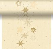 Duni Dunicel 0,4X4,8m Star Stories Vanilja Perforoitu Poikkiliina