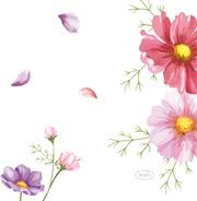 Duni 24Cm 3-Krs Blooms Lautasliina 20Kpl