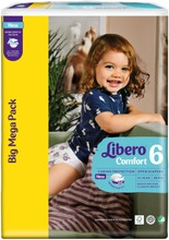 Libero Comfort teippivaippa koko 6, 13-20 kg, 88 kpl