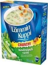 Blå Band Lämmin Kuppi Crunchy Vähälaktoosinen Kevätsipulikeitto Krutongeilla 3X23g