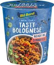 Blå Band Meal Cup Tasty Bolognese Bolognese-Pasta-Ateria 70G
