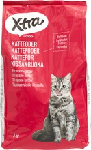 Xtra kissanruoka sisältää lihaa 3kg
