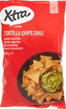X-tra Tortilla chips chili 450 g