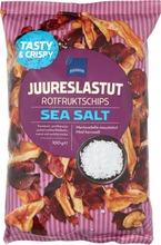 Merisuolalla Maustetut Juureslastut.