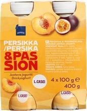 Juotava Persikka-Passionhedelmäjogurtti