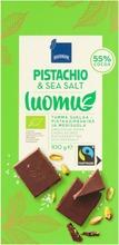 Luomu Tumma Suklaa – Pistaasipähkinä Ja Merisuola