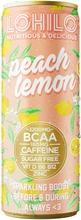 Lohilo Persikan ja sitruunan makuinen BCAA-aminohappoja sisältävä sokeriton hiilihapotettu energiajuoma 330ml
