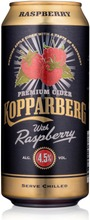 Premium Cider Kopparberg With Raspberry 4,5%, Vadelman Makuinen Omenasiideri Tölkki 44Cl Tölkki 44Cl