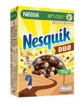 Nestlé Nesquik Duo 325G Kaakaomuroja Ja Valkoisella Suklaalla Kuorrutettuja Muroja
