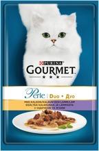 Gourmet 85G Perle Kalkkunaa & Lammasta Delicate Meats Duo Kissanruoka