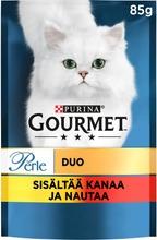 Gourmet 85g Perle Kanaa & Nautaa Delicate Meats Duo kissanruoka