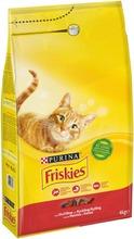 Friskies 4kg Adult Nautaa, Kanaa ja Maksaa kissanruoka