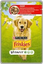 Friskies 100G Adult Nautaa Ja Perunaa Kastikkeessa Koiranruoka