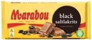 Marabou Black Saltlakrits Suklaalevy 180G