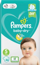 Pampers 46kpl BabyDry S5 11-16kg vaippa