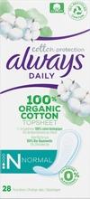 Always Dailies Cotton Protection Normal 28Kpl Pikkuhousunsuoja