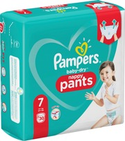 Pampers 30kpl Baby Dry Pants S7 17+ kg housuvaippa