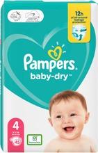 Pampers 45Kpl Baby Dry S4 9-14Kg Vaippa