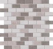 Laattamaailma Mosaiikki Kaleido Muretto Ruskea Av/Ma/Ca 2,5X5 Cm (Arkin Koko 30X30 Cm). Pakkasenkestävä.