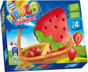 Pirulo Strawberry Limonadijääpuikko Monipakkaus 4X66g/73Ml