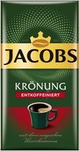 Jacobs Krönung Decaf 500 g, kofeiiniton suodatinkahvi tyhjiöpakkauksessa