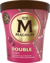 Magnum Jäätelöpakkaus Double Gold Ruby Berries And Cream 440 Ml