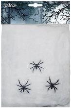 Hämähäkinverkko Valkoinen 20 G Ja 3 Koristehämähäkkiä