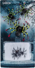 Hämähäkit 5 Kpl Ja Hämähäkinverkko 5 G