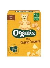 Organix Mini Cheese Crackers 80G , Juustonmakuiset Luomukeksit Alkaen 12Kk