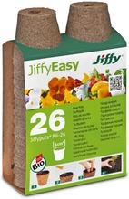 Jiffy Turveruukku 6 Cm Pyöreä 26 Kpl/Pkt