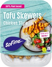 Sofine Tofu Skewers Chicken Style Vartaat Vegaaninen 150G