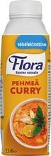 Flora 250ml Ruoka Pehmeä Curry maustettu kasviöljypohjainen ruoanvalmistustuote