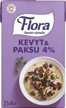 Flora Kevyt & Paksu 4% 250Ml