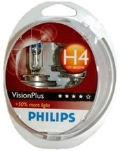 Philips H4 Visionplus Autolamppu 12V 60/55W