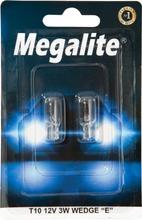 Megalite Autolamppu 12256 12V 3W T10 2Kpl