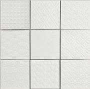 Spirit White 9.8X9.8 Lasitettu Laatta Valkoinen