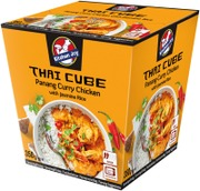 350g Kitchen Joy Thai-Cube Panang curry -kanaa ja jasmiiniriisiä, pakasteateria
