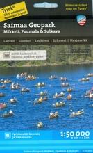 Saimaa Geopark Mikkeli Puumala Sulkava  -Retkeilykartta