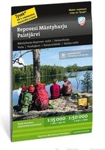 Repovesi Mäntyharju Paistjärvi  -Retkeilykartta