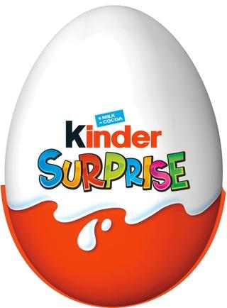 Kinder Surprise maitosuklaahahmo maitoisalla sisäpinnalla. sisältää lelun 20g