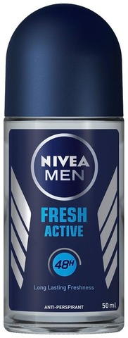 Nivea Men 50Ml Fresh Active Deo Roll-On -Antiperspirantti