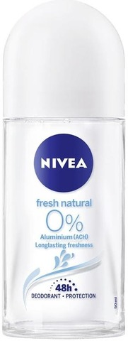 NIVEA 50ml Fresh Natural Alu-Free Deo Roll-on -deodorantti