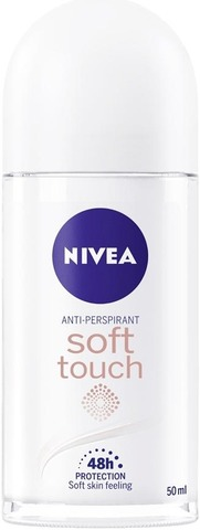 NIVEA 50ml Soft Touch Deo Roll-on -antiperspirantti