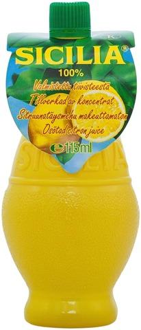 Sicilia Sitruunatäysmehu Makeuttamaton 115Ml