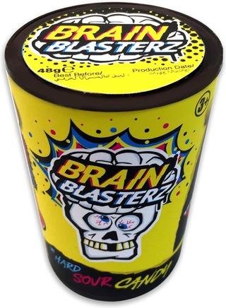 Brain Blasterz 48G Mega Sour Candy 4 Varianttia Vesimeloni, Sitruuna, Omena Ja Mustikka